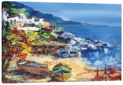 Barche A Riva Canvas Art Print