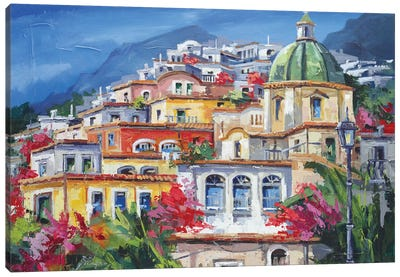 Costa Amalfitana Canvas Art Print