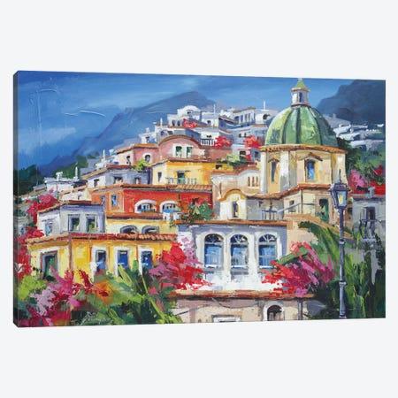Costa Amalfitana Canvas Print #RDV4} by Roberto di Viccaro Canvas Print