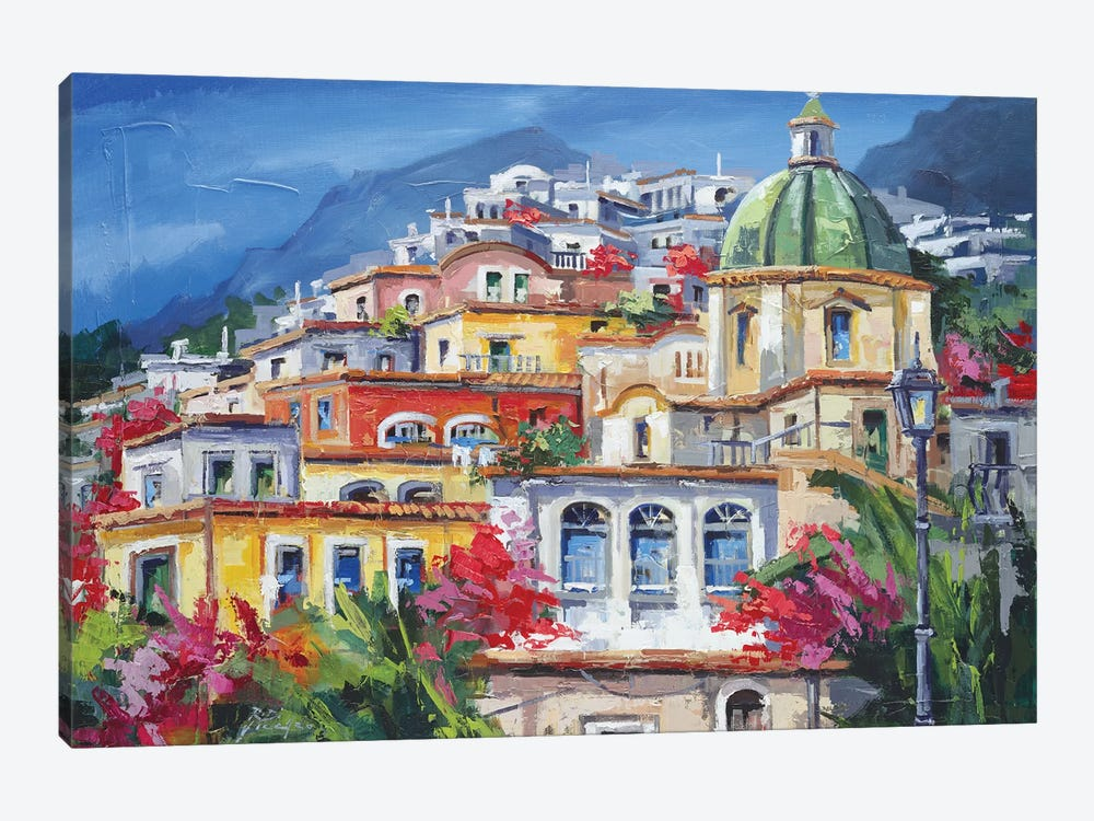 Costa Amalfitana by Roberto di Viccaro 1-piece Canvas Wall Art