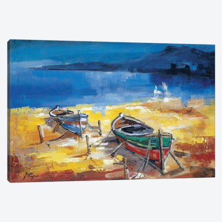 Le Due Barche Canvas Print #RDV6} by Roberto di Viccaro Canvas Print