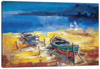 Le Due Barche Canvas Art Print