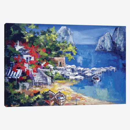 Paesaggio Caprese Canvas Print #RDV8} by Roberto di Viccaro Canvas Wall Art