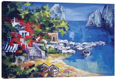 Paesaggio Caprese Canvas Art Print