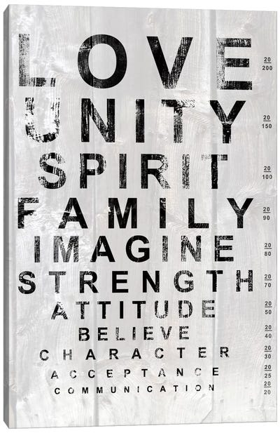 Eye Chart I Canvas Art Print