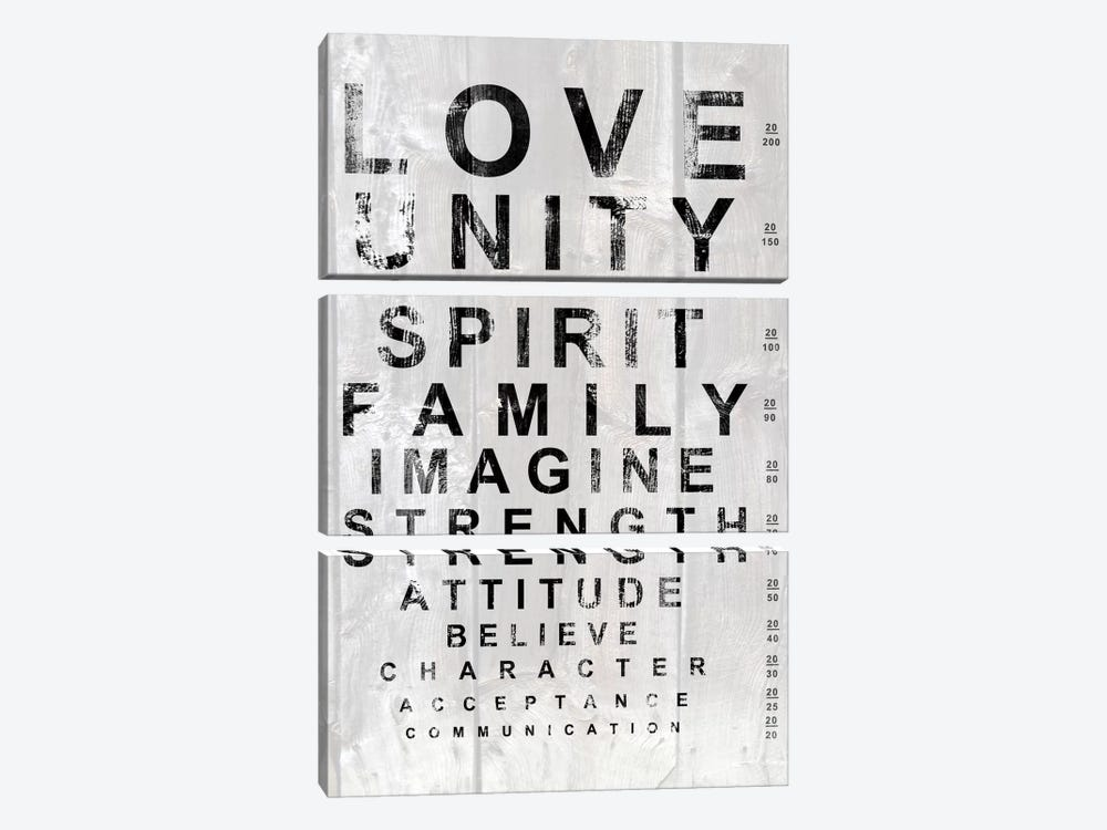 Eye Chart I by Andrea James 3-piece Canvas Print