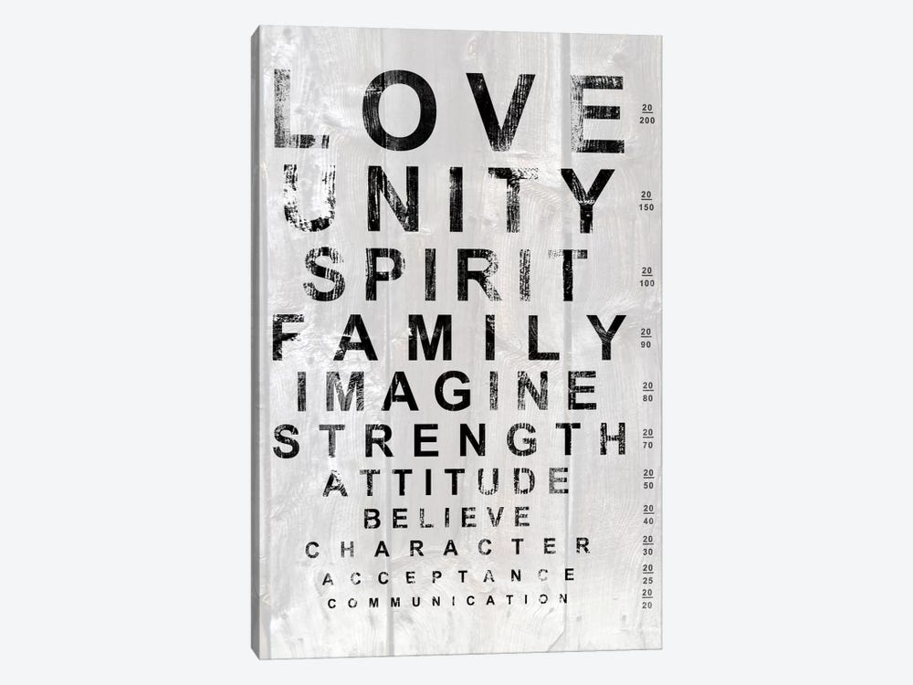 Eye Chart I by Andrea James 1-piece Canvas Print