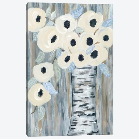 Blooming Birch Vase I Canvas Print #REB12} by Roey Ebert Canvas Wall Art