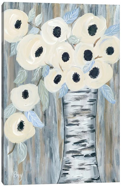 Blooming Birch Vase I Canvas Art Print