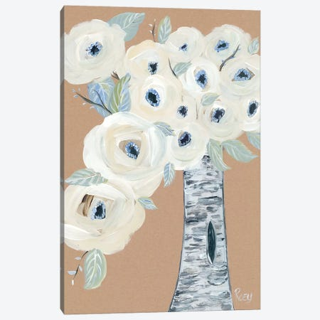 Blooming Birch Vase II Canvas Print #REB13} by Roey Ebert Canvas Wall Art
