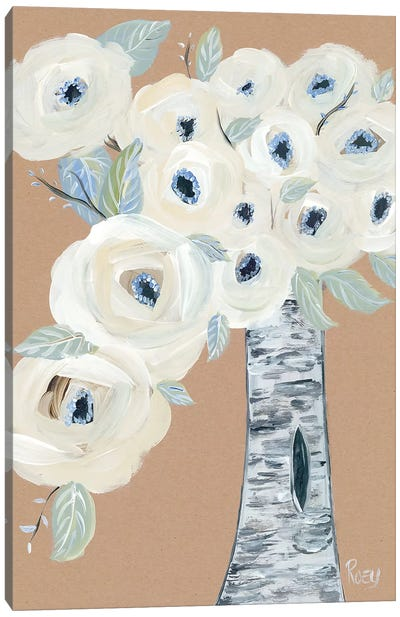 Blooming Birch Vase II Canvas Art Print
