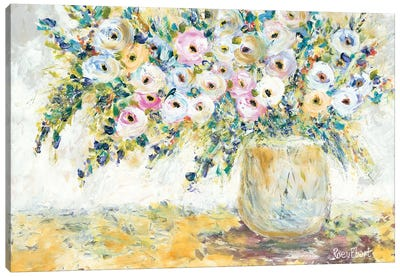 Bowlful of Roses Canvas Art Print