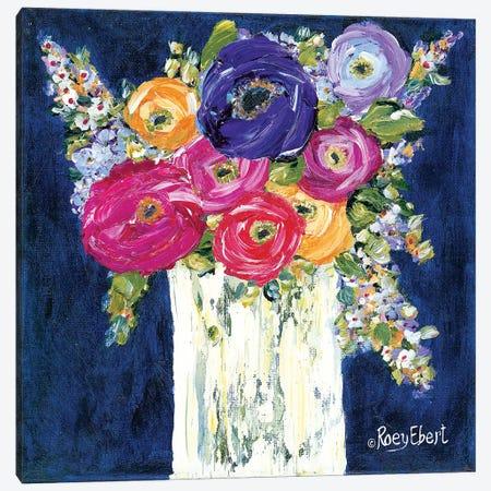 True Blue Canvas Print #REB17} by Roey Ebert Art Print