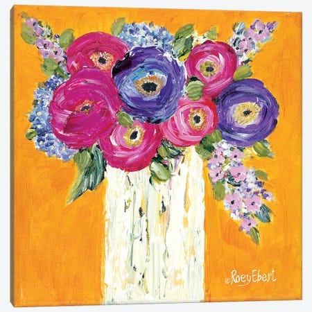 Vase Full of Sunshine Canvas Print #REB18} by Roey Ebert Canvas Wall Art