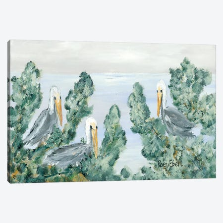 The Pelican Perch Canvas Print #REB29} by Roey Ebert Art Print