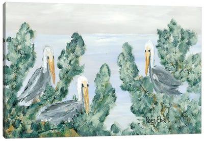 The Pelican Perch Canvas Art Print
