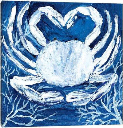 Midnight Ghost Crab Canvas Art Print