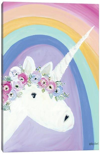 Floral Unicorn I Canvas Art Print