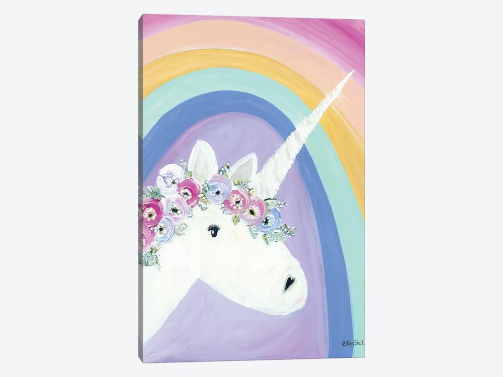 Floral Unicorn I by Roey Ebert 1-piece Canvas Art Print
