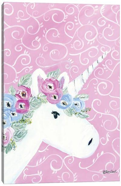 Floral Unicorn II Canvas Art Print