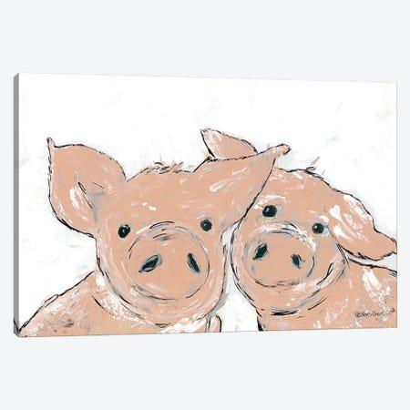 Pigs Canvas Print #REB39} by Roey Ebert Canvas Artwork