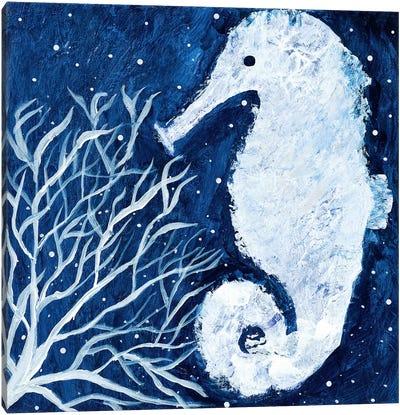 Midnight Seahorse Canvas Art Print