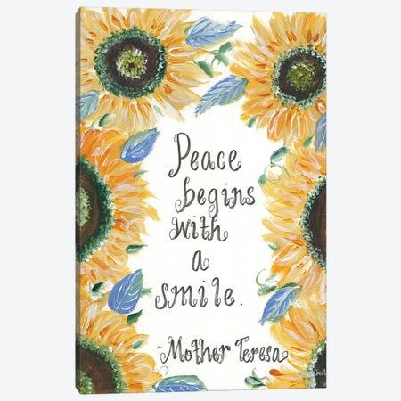 Peace Mother Teresa Canvas Print #REB41} by Roey Ebert Art Print