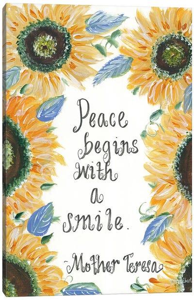 Peace Mother Teresa Canvas Art Print