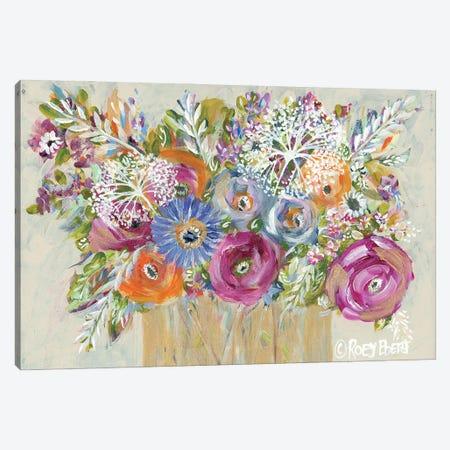 Golden Vase I Canvas Print #REB44} by Roey Ebert Canvas Artwork