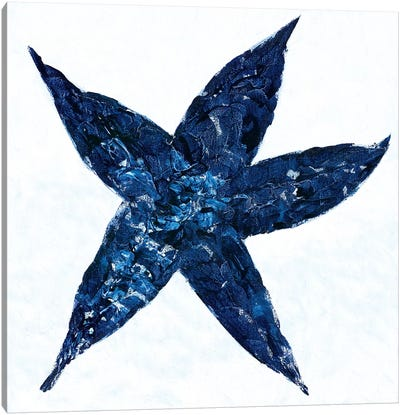 Midnight Starfish Canvas Art Print