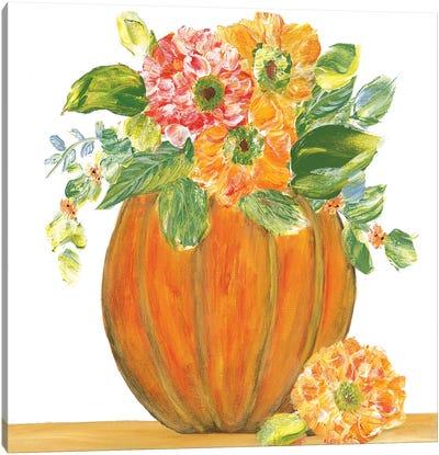 Pumpkin Full of Mums Canvas Art Print