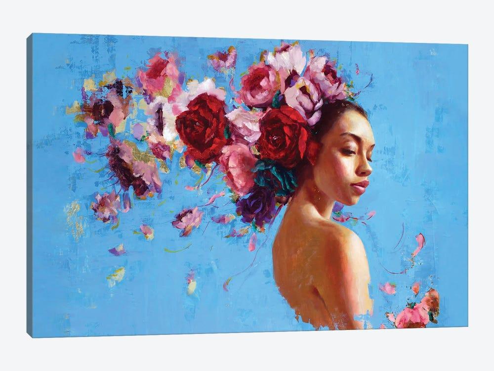 Primavera by Rosso Emerald Crimson 1-piece Canvas Artwork