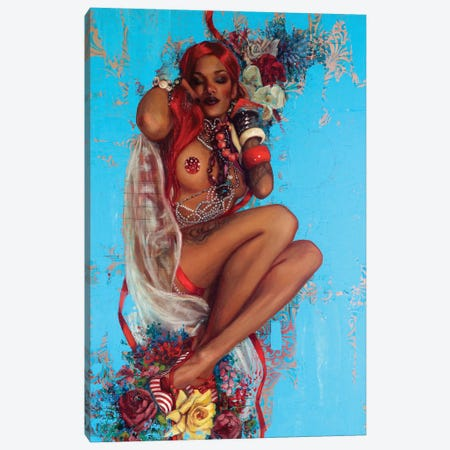 All That Glitters Canvas Print #REC13} by Rosso Emerald Crimson Canvas Print