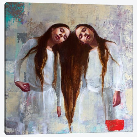 Interlude Canvas Print #REC17} by Rosso Emerald Crimson Canvas Wall Art