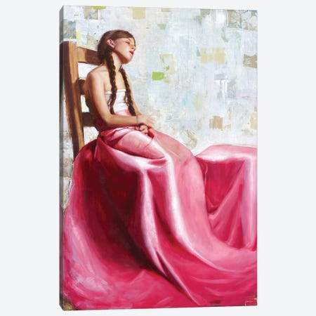 La Vie En Rose Canvas Print #REC18} by Rosso Emerald Crimson Canvas Art Print