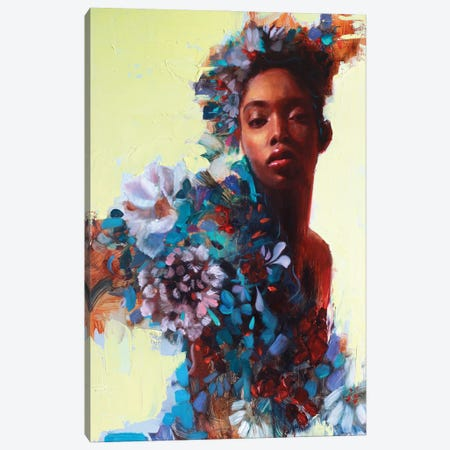Flora Canvas Print #REC20} by Rosso Emerald Crimson Canvas Wall Art