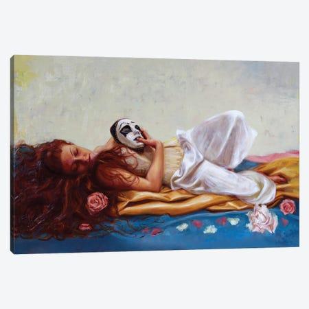 My Beautiful Pierrot Canvas Print #REC23} by Rosso Emerald Crimson Canvas Art