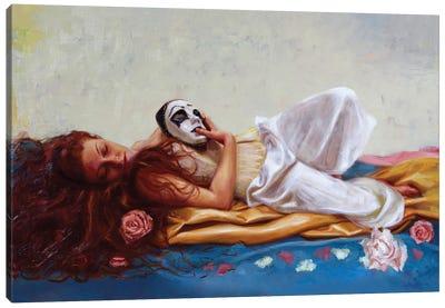My Beautiful Pierrot Canvas Art Print