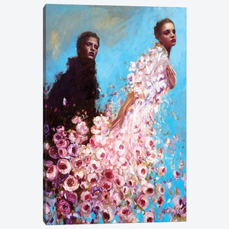 Shadow Canvas Print #REC7} by Rosso Emerald Crimson Canvas Wall Art