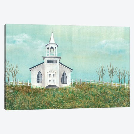Country Church I Canvas Print #REG103} by Regina Moore Canvas Print