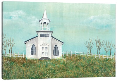 Country Church I Canvas Art Print