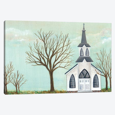 Country Church II Canvas Print #REG104} by Regina Moore Canvas Art