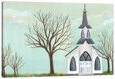 Country Church II Canvas Art Print