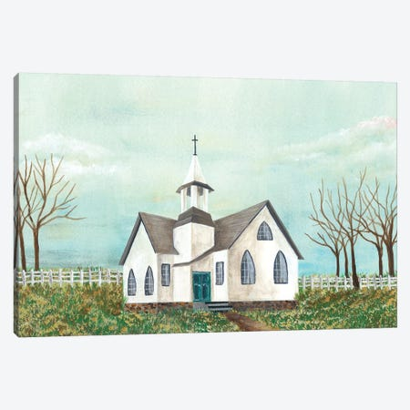 Country Church III Canvas Print #REG105} by Regina Moore Canvas Artwork