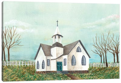 Country Church III Canvas Art Print