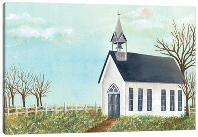Country Church IV Canvas Art Print