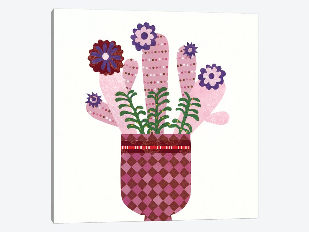 Cheerful Succulent III by Regina Moore 1-piece Canvas Art Print