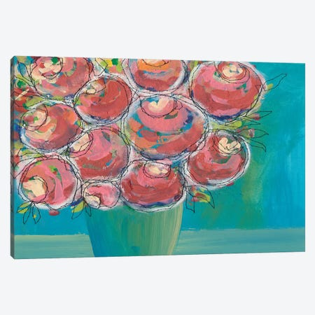 Candy Flowers II Canvas Print #REG130} by Regina Moore Canvas Art