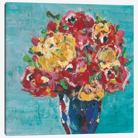 Chaos Floral I Canvas Print #REG133} by Regina Moore Canvas Artwork