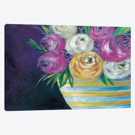 Cotton Candy Floral I Canvas Print #REG138} by Regina Moore Canvas Art
